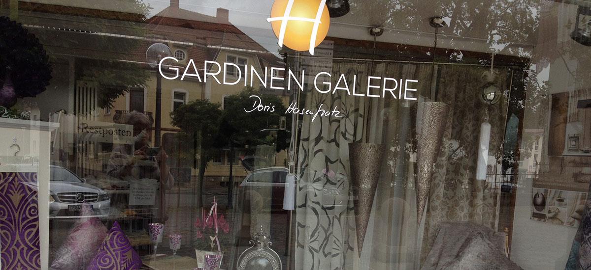 Schaufenster Gardinen-Galerie Engen